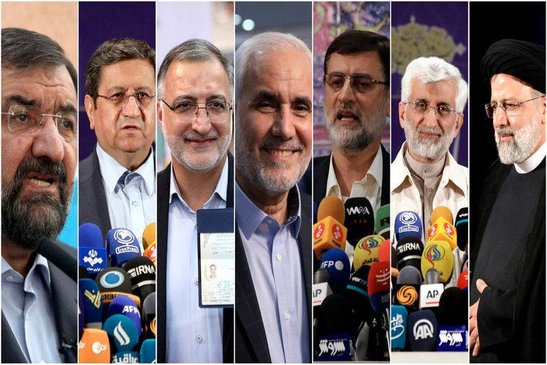 Los candidatos aprobados para las elecciones presidenciales iraníes