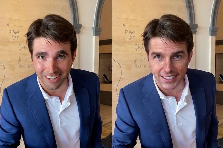 Miles Fisher puso el cuerpo y el movimiento, y Christopher Ume usó técnicas de deepfake y edición de video para trasponer el rostro de Tom Cruise sobre el de Fisher