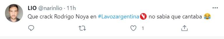 Rodrigo Noya se volvió tendencia en Twitter por su parecido a un participante de La Voz