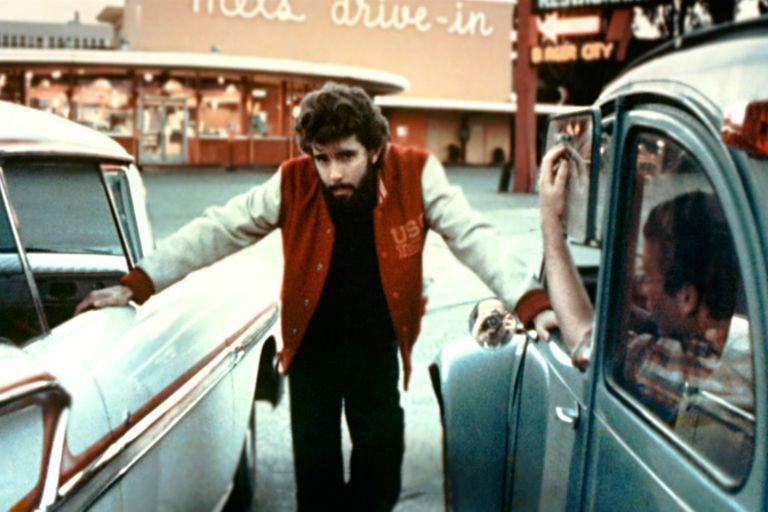 Un joven George Lucas al frente de American Graffiti