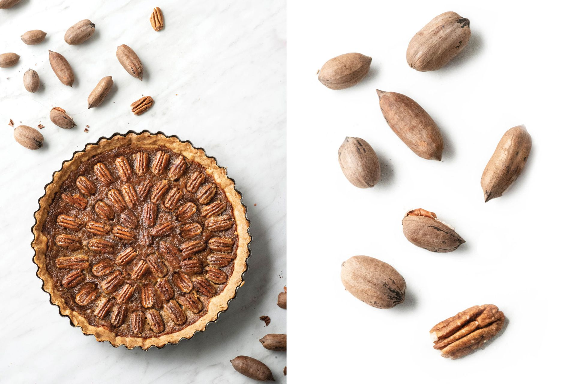 Las nueces son versátiles y pueden incorporarse a muchas recetas. Una de ellas es la tarta de pecán.