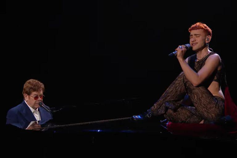 Elton John y Olly Alexander, en uno de los shows más destacados de los Brit Awards 2021