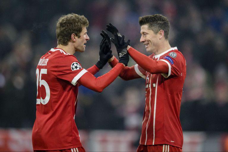 Bayern Munich goleó a Besiktas en el partido de ida de los octavos de final
