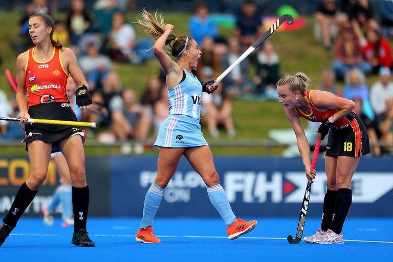 El festejo de Julieta Jankunas en el primer gol argentino ante Australia