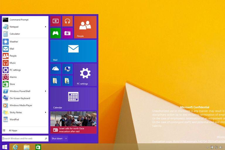 Otra captura de pantalla no oficial que se filtró en Internet que muestra cómo será el regreso del menú Inicio a Windows