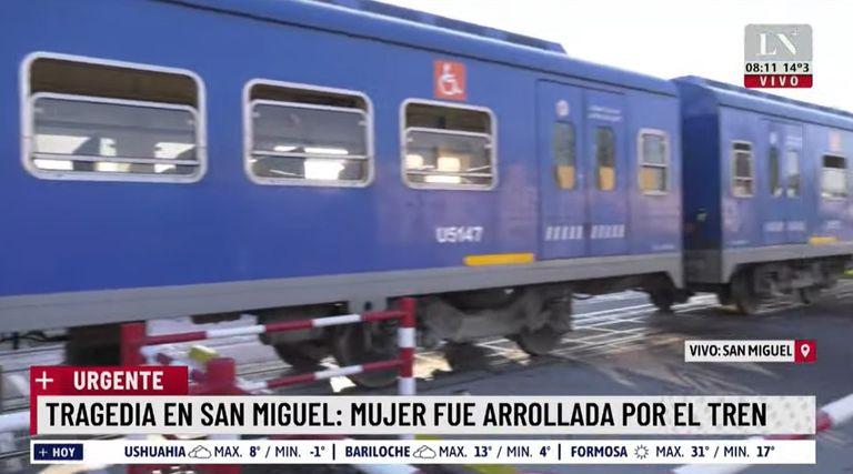 Tragedia en el Tren San Martín: una formación atropelló a una mujer