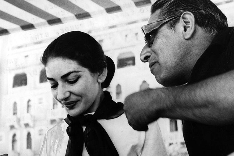 María Callas y Aristóteles Onassis, en 1959