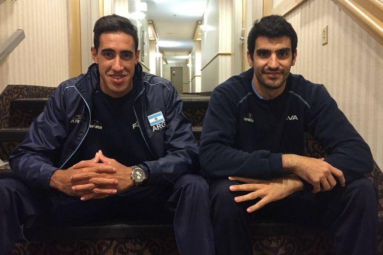 Pablo Crer y Martín Ramos con la satisfacción tras la victoria