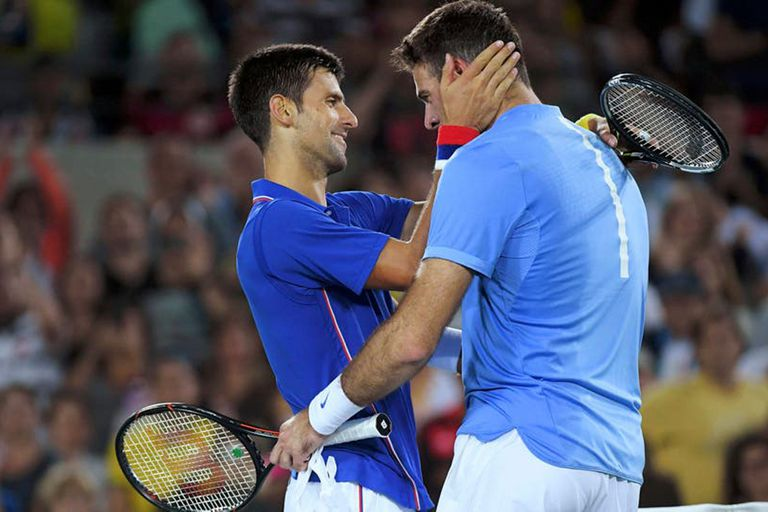 """Del Potro provocó """"las lágrimas más grandes"""" en Djokovic, según su madre"""