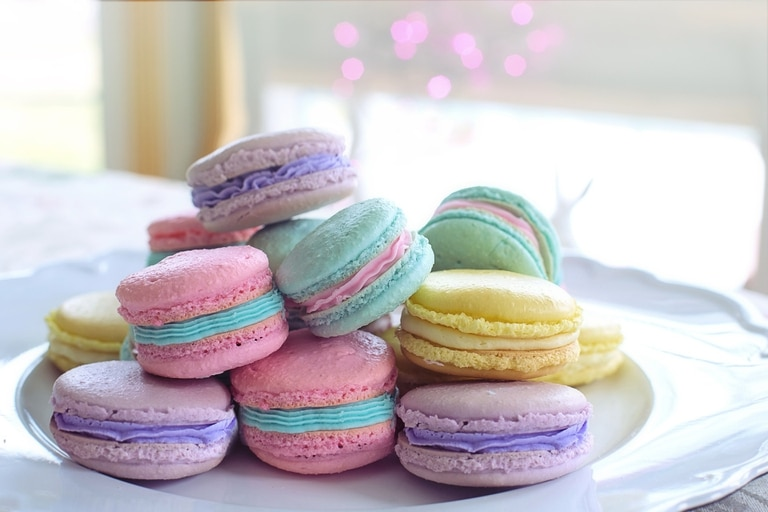 Macarons de merengue italiano