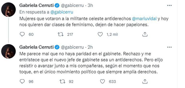 El mensaje de Cerruti con críticas a Manzur.