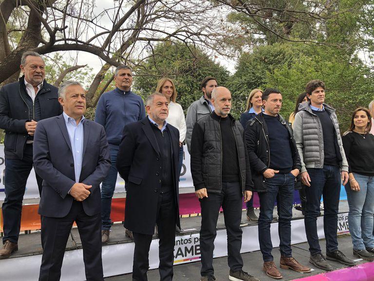 Alfredo Cornejo, Luis Juez, Horacio Rodríguez Larreta y Martín Lousteau