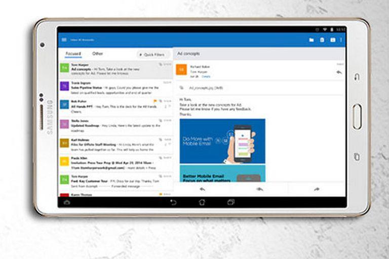Además de Outlook, Microsoft apostó a una serie de apps de desarrollo propio, como Office y OneDrive, junto a adquisiciones como Acompli y Sunrise
