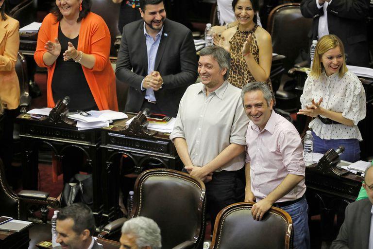 Máximo Kirchner y Andrés Larroque