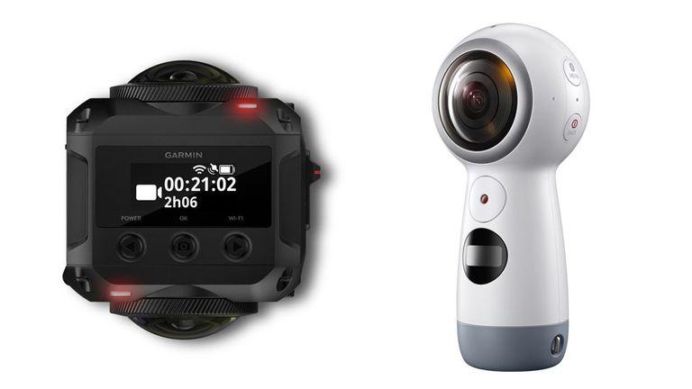 Garmin VIRB 360 y Gear 360 de Samsung, dos de los nuevos modelos que llegan al segmento de las cámaras 360