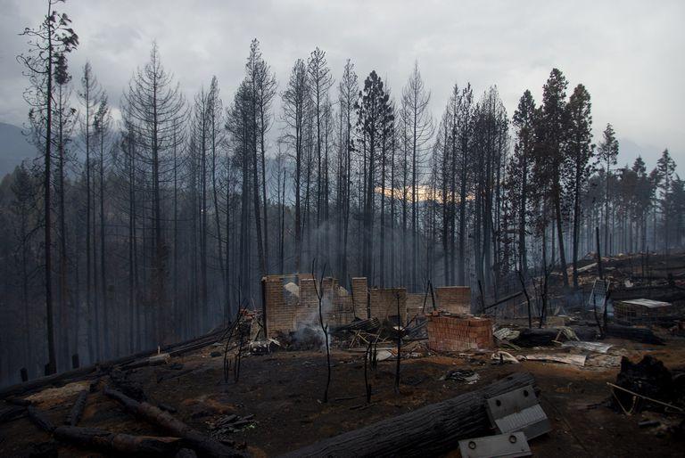 En marzo pasado, se registraron varios focos de incendios en la Comarca andina; uno de ellos fue en la zona de la localidad de El Hoyo