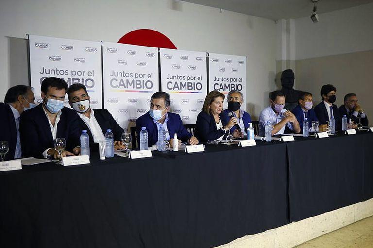 Conferencia de prensa de Juntos por el Cambio