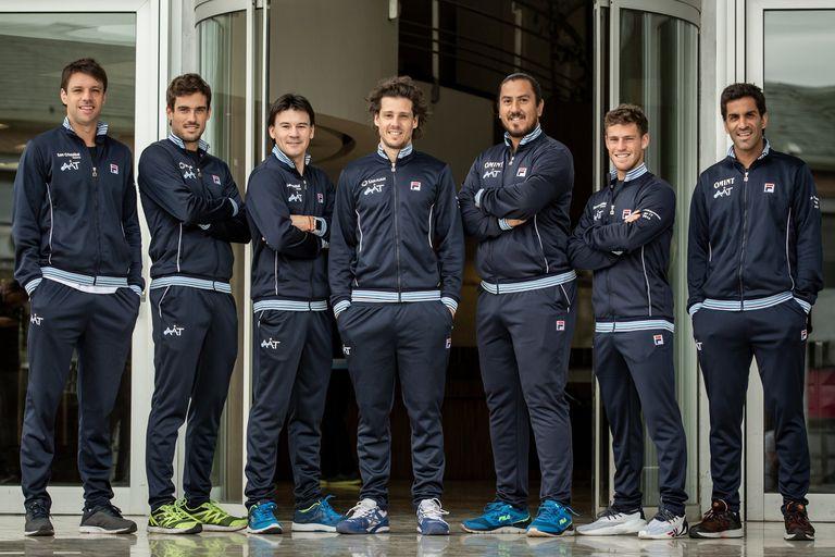 La delegación argentina de Copa Davis
