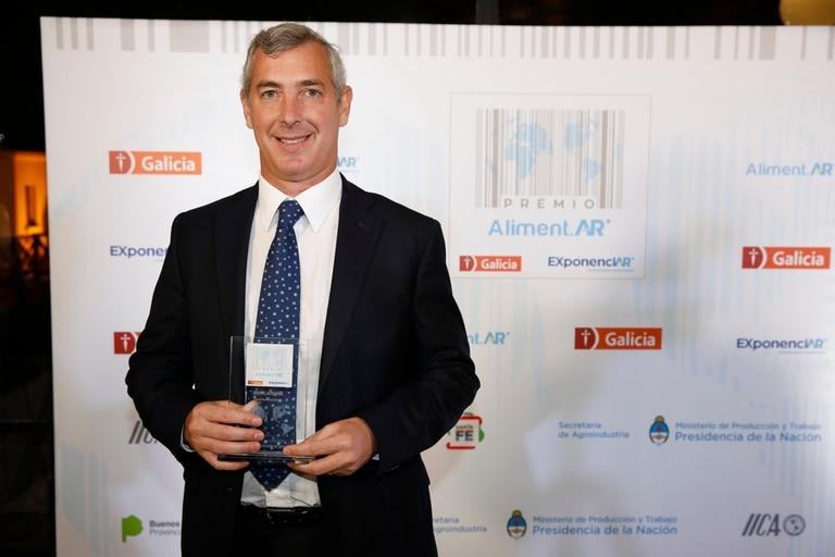 Premio para Industrias Frigoríficas Rioplatense. En la foto Martín Constantini