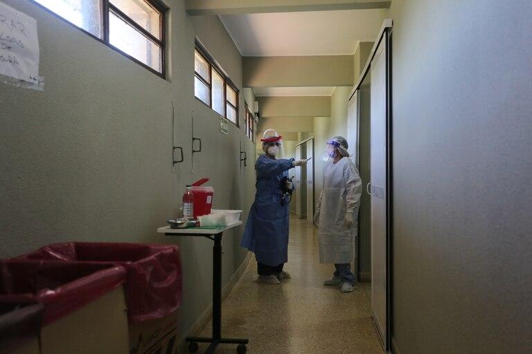En el sector Covid del hospital de campaña de Punta Lara –inaugurado en abril del 2020– hay diez personas internadas; en total, hay 50 camas de internación