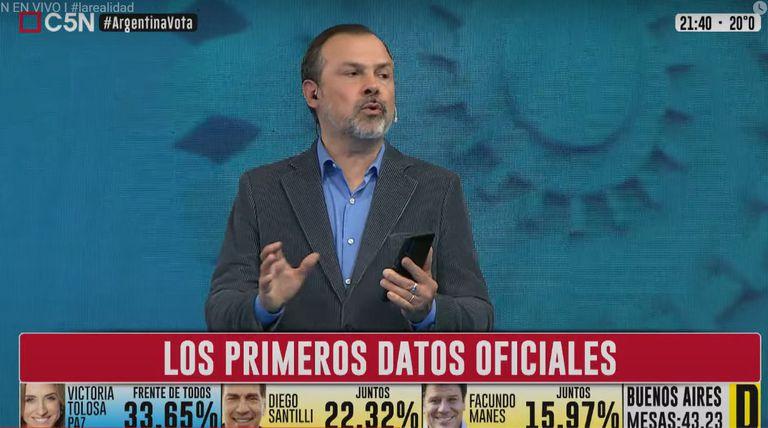 Gustavo Sylvestre habló del triunfo del Frente de Todos en la Provincia
