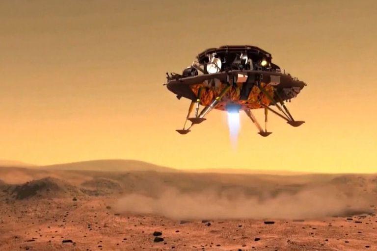 China busca que su rover Zhurong aterrice esta noche en Marte