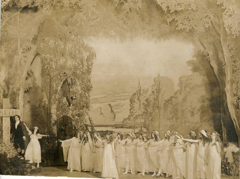 Una escena de Giselle en 1841