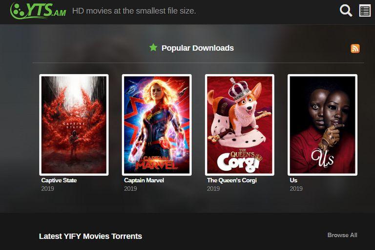 YTS fue la marca de una plataforma que fue dada de baja en 2015, pero sobrevivió en YTS.am, otro sitio web que ahora está bajo la mira de los estudios de cine con una demanda por piratería