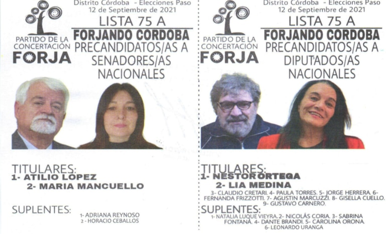 El partido de la Concertación FORJA compite con lista única en las PASO cordobesas.