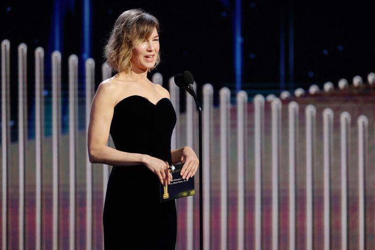 Renée Zellweger, anoche en los Globos de Oro