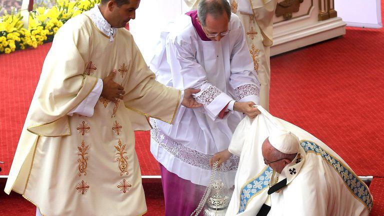 La caída del Papa