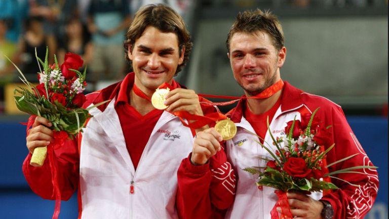 Federer y Wawrinka ganaron juntos la medalla de oro en dobles en los Juegos Olímpicos de Pekín 2008.