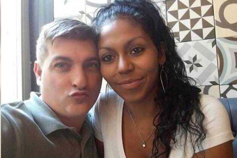 César Román Viruete junto a su novia, Heidi Paz, quien apareció descuartizada