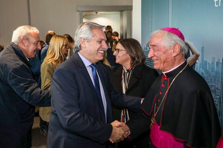 La llegada de Alberto Fernández a Roma