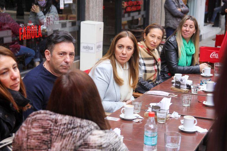Vidal se reunió con comerciantes en Belgrano
