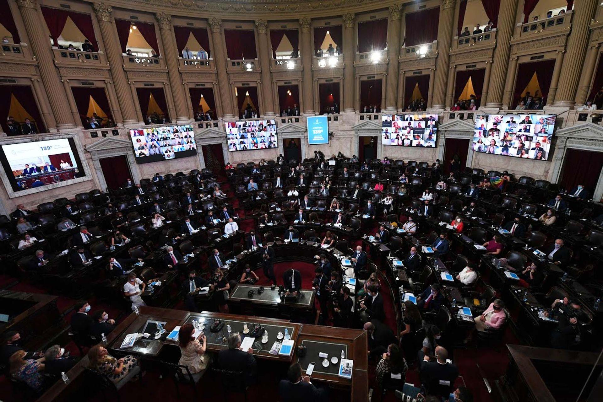 Una vista general del Congreso de la Nación en la apertura de las Sesiones Legislativas