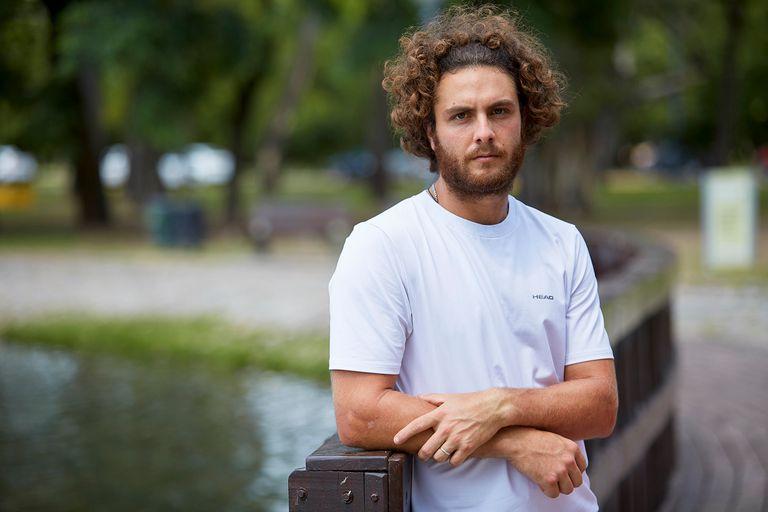 Marco Trungelliti, en los alrededores del Buenos Aires Lawn Tennis Club