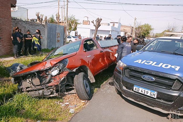Los ladrones perdieron el control de la camioneta robada