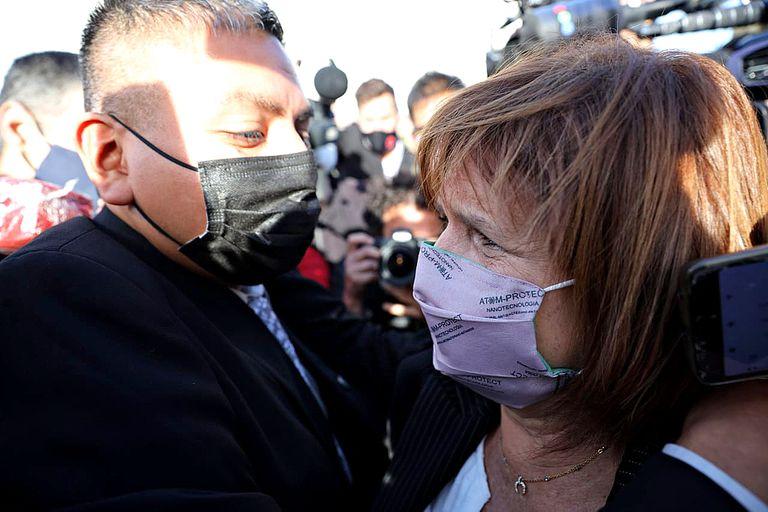 Tras el veredicto, el policía Luis Chocobar recibió el apoyo de Patricia Bullrich