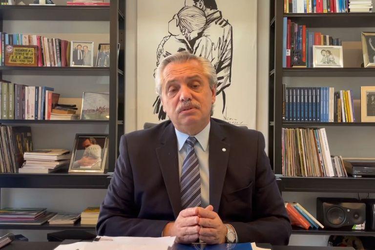Con un video, Fernández oficializó su respaldo a Perotti en la interna contra Rossi