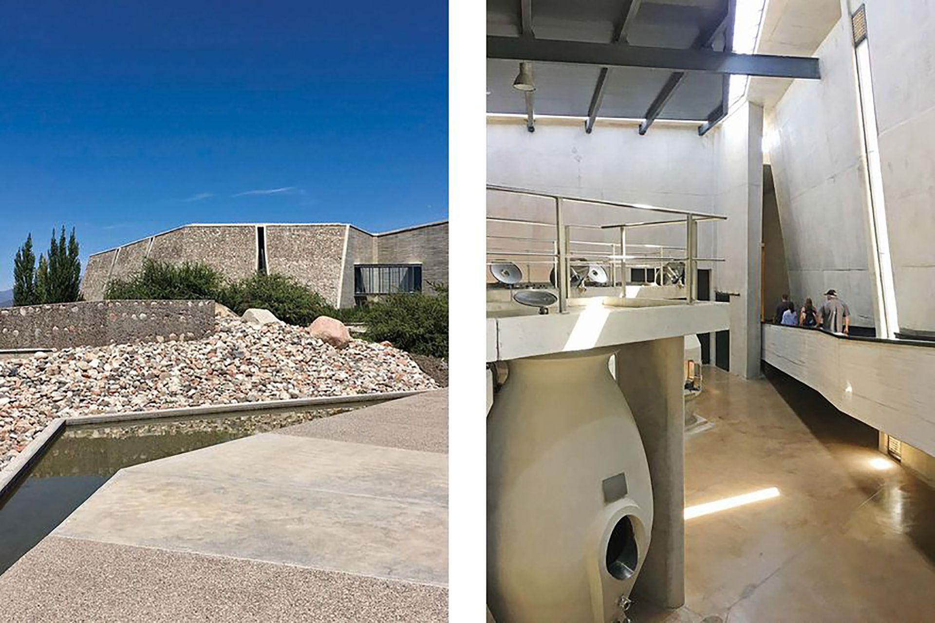 Diseñada por el arquitecto Fernando Raganato, y con espectacular paisajismo de Eduardo Vera (ambos mendocinos), está revestida con piedra del lugar.