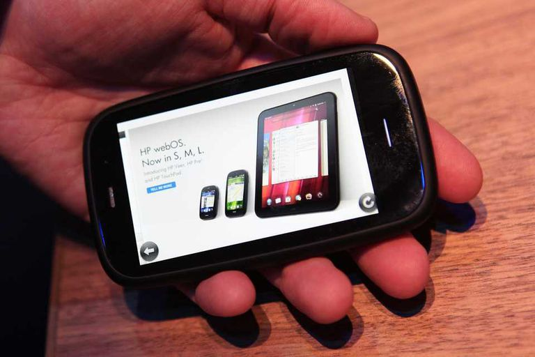 El Pre 3 durante la presentación de la línea de dispositivos con webOS de HP en 2011
