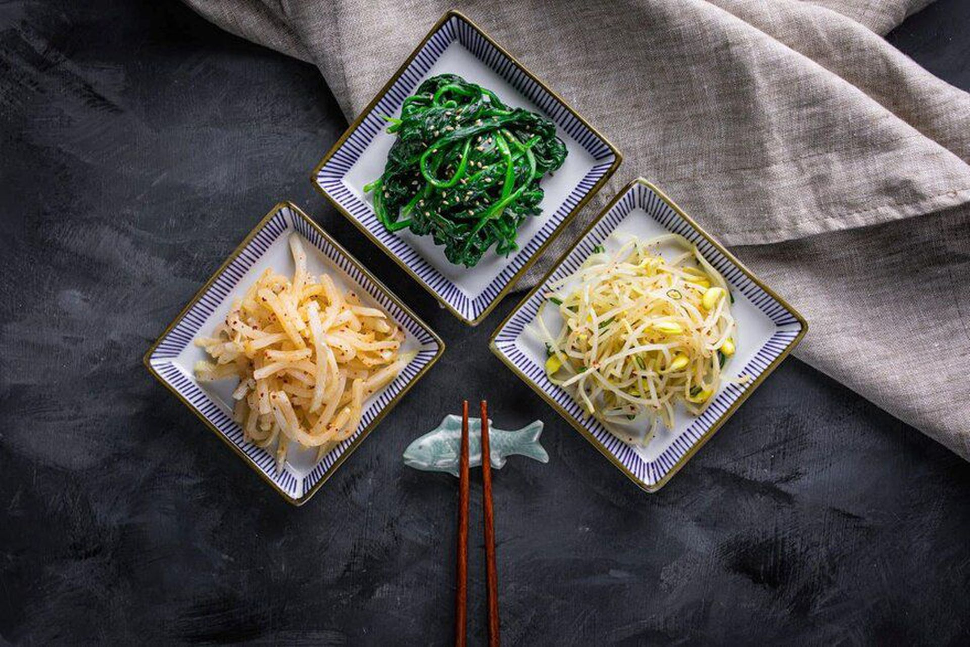 Kimchi de cubitos de nabo