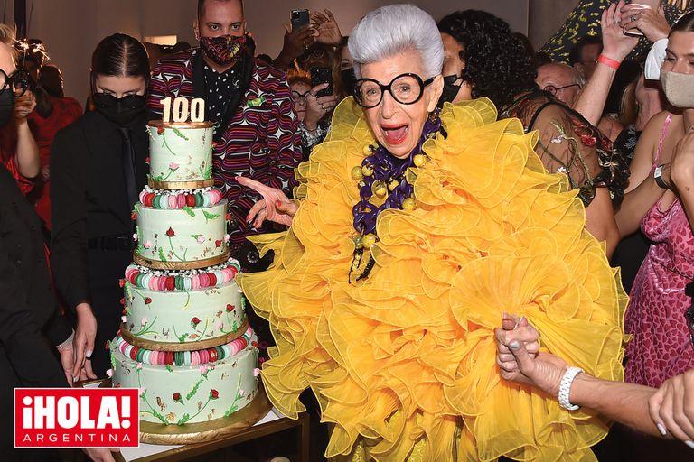 Iris Afpel celebró sus 100 años en un piso 100 de Manhattan, rodeada de invitados VIP