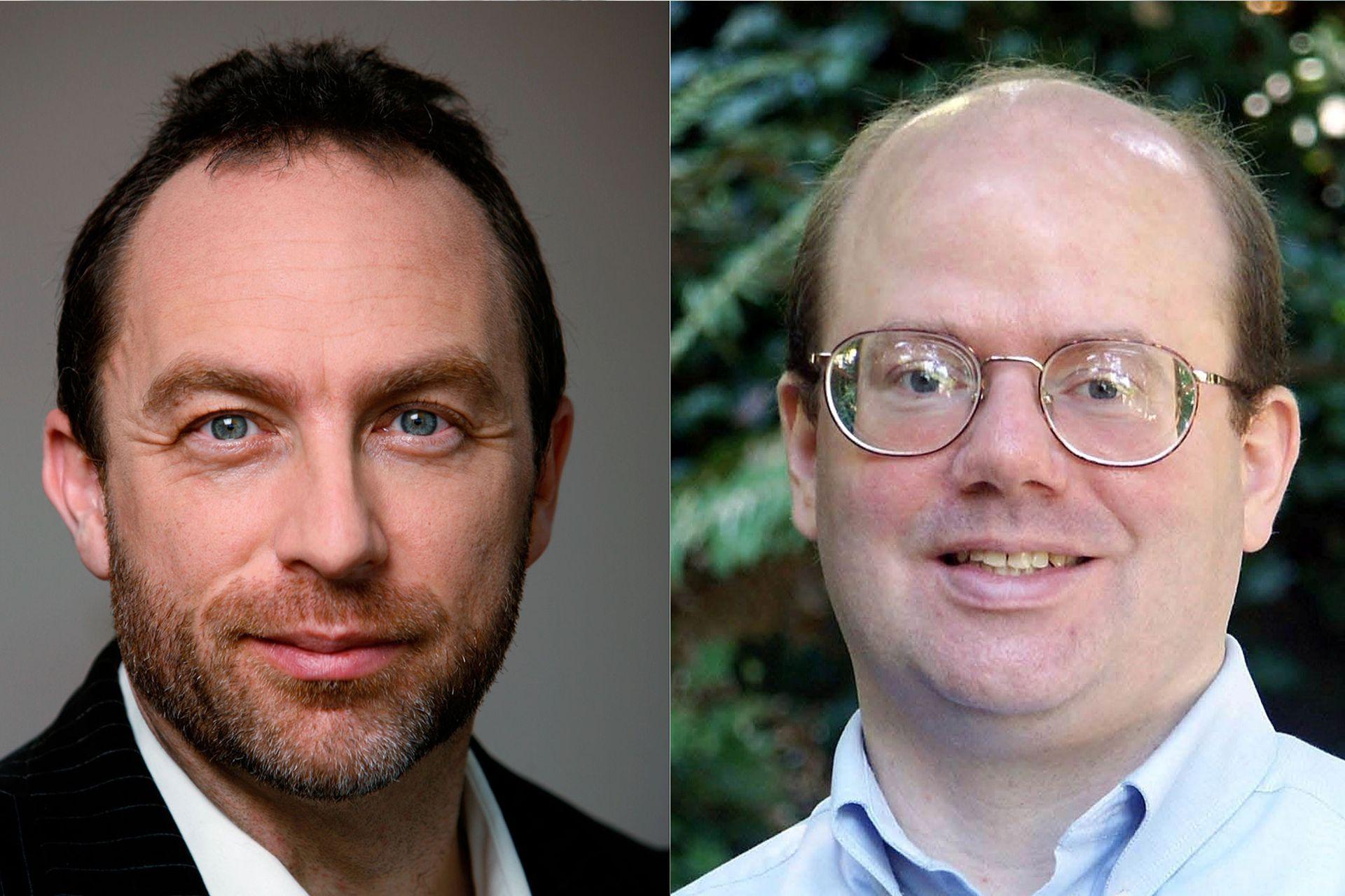 Jimmy Wales y Larry Sanger crearon Nupedia, una enciclopedia académica que dio origen a Wikipedia en 2001.