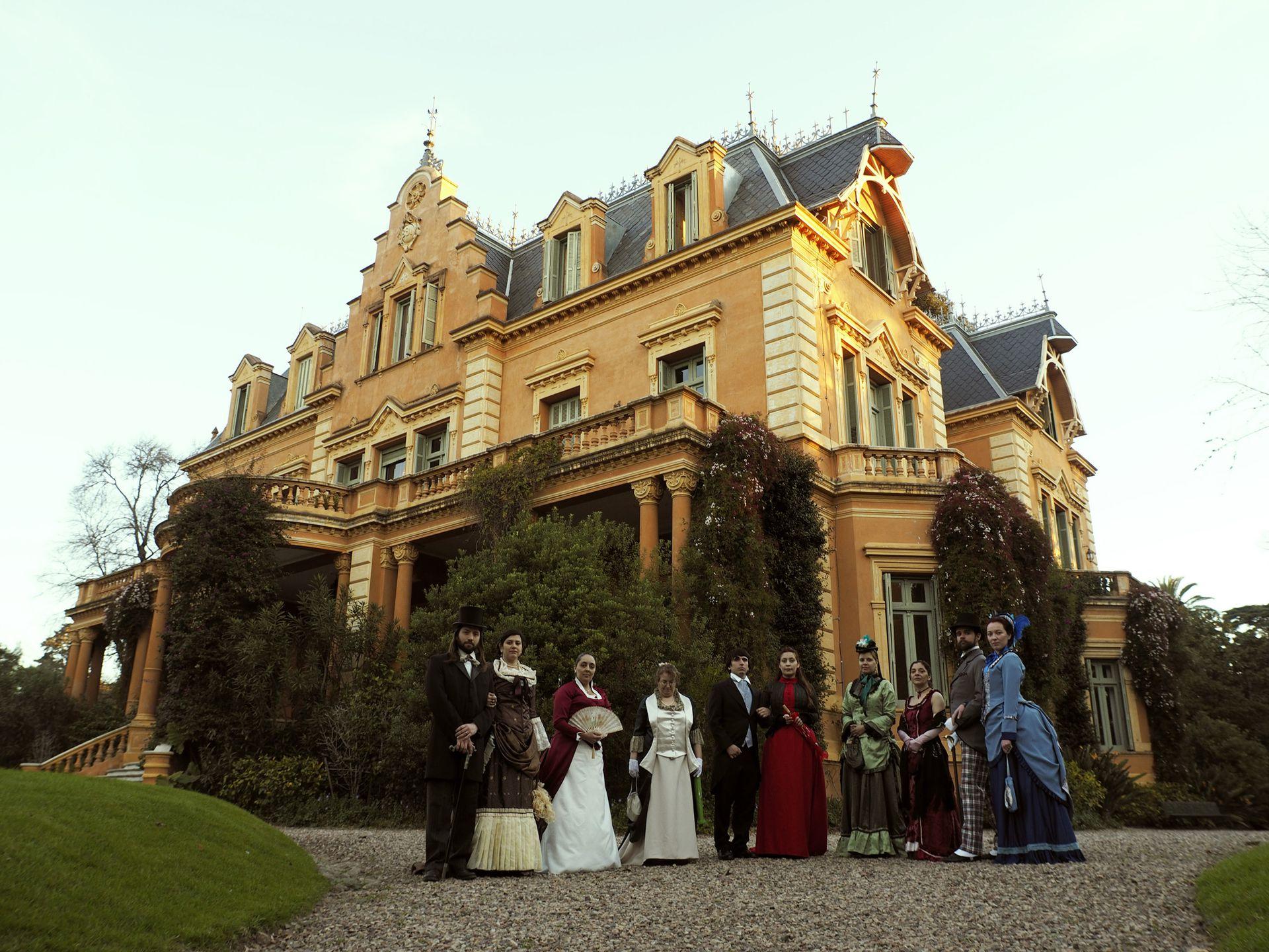 Los recreacionistas de la Sociedad Victoriana Augusta en Villa Ocampo
