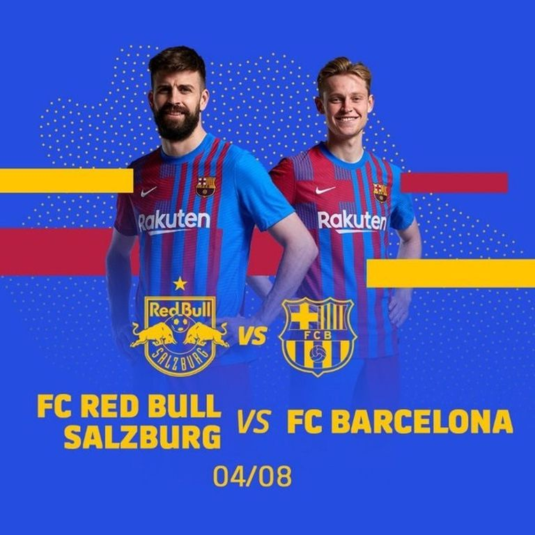 21-07-2021 Cartel promocional del partido amistoso de pretemporad que jugará el FC Barcelona contra el Red Bull Salzburg en Salzburgo (Austria) el 4 de agosto de 2021 DEPORTES FCB