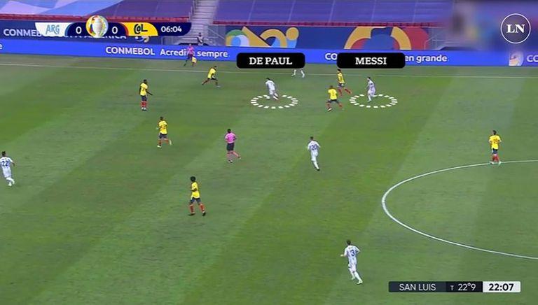 De Paul y Messi, dos de las claves positivas en la clasificación de la selección argentina para la final de la Copa América