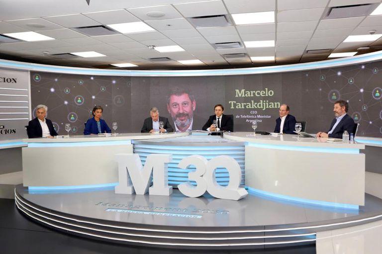 Diego Sobrini (Galeno), María Eugenia Estenssoro (Fundación Equidad), Sergio Kaufman (Accenture), José Del Rio (LA NACION), Gabriel López (Ford Argentina) y Marcelo Tarakdjian (Telefónica Movistar Argentina)