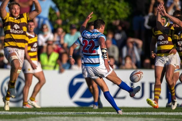 Otra postal de la final entre SIC y Belgrano, en 2019, el último partido del rugby amateur en la Argentina